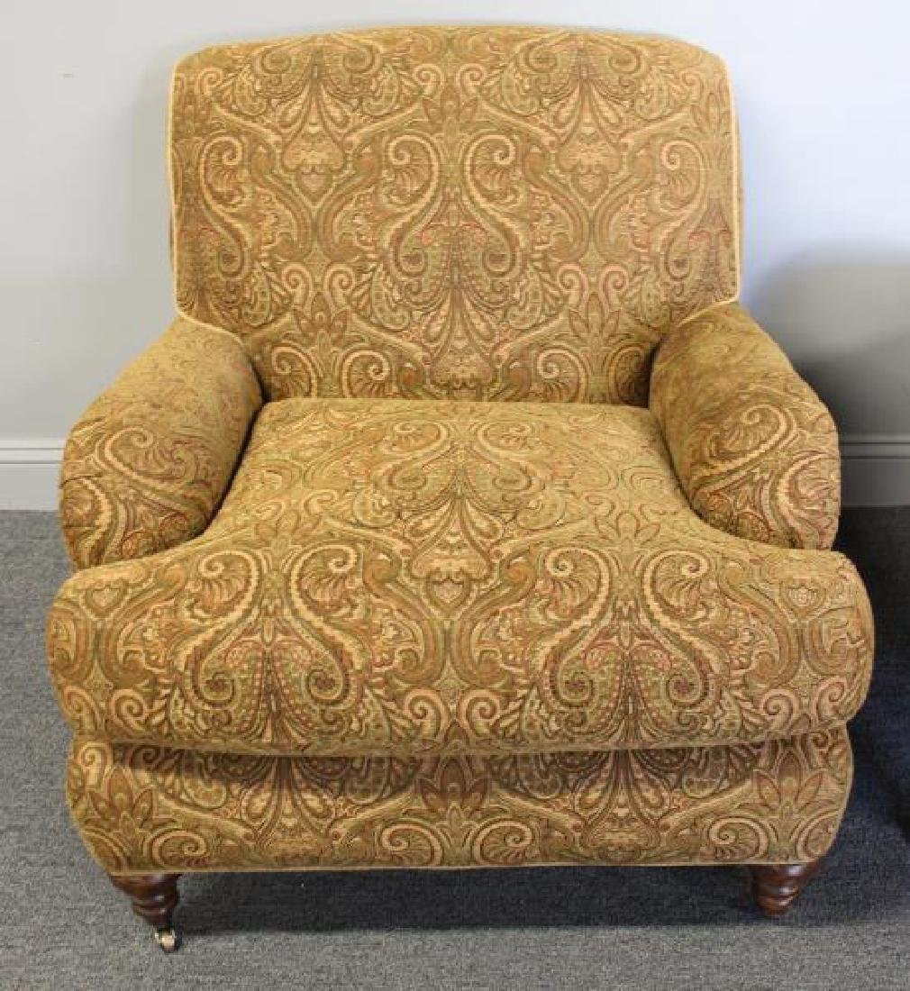 Pair Of Rinfret Signed Paisley Design Upholstered - 3