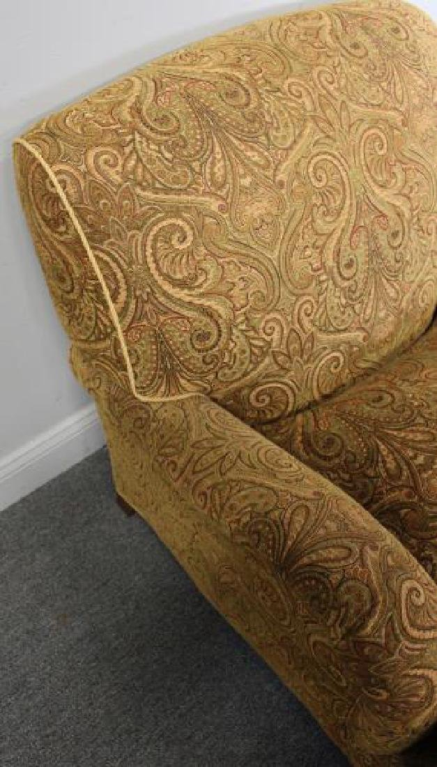 Pair Of Rinfret Signed Paisley Design Upholstered - 4