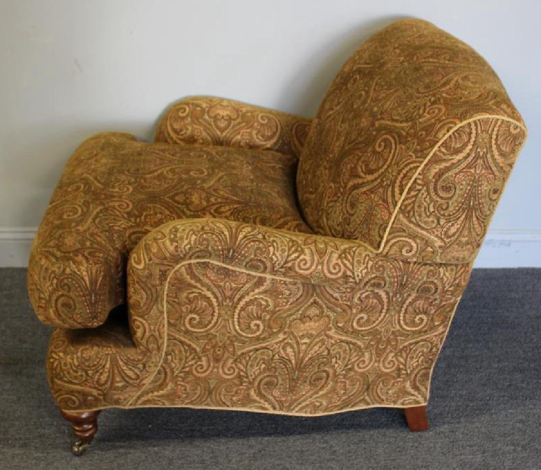 Pair Of Rinfret Signed Paisley Design Upholstered - 6