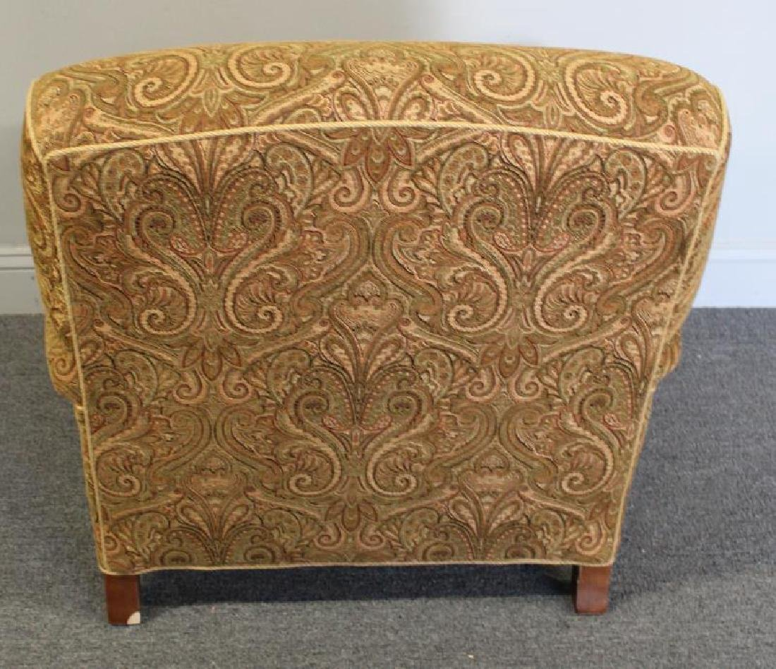 Pair Of Rinfret Signed Paisley Design Upholstered - 7