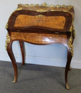 Bronze Mounted Louis XV Style Walnut