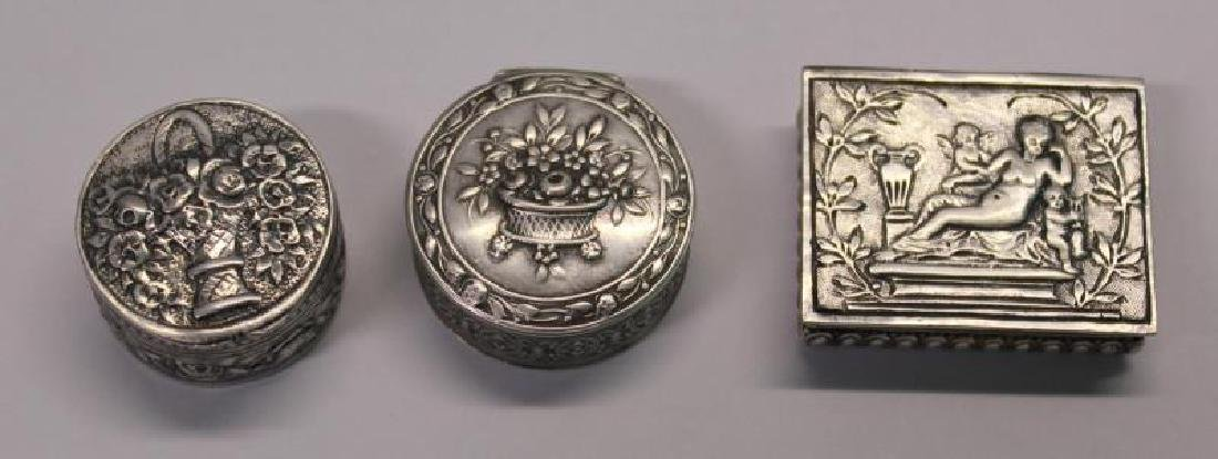 SILVER. Grouping of 27 Assorted Snuff Boxes. - 2