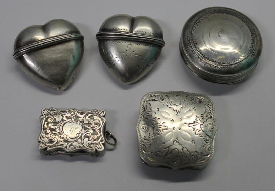 SILVER. Grouping of 27 Assorted Snuff Boxes. - 3