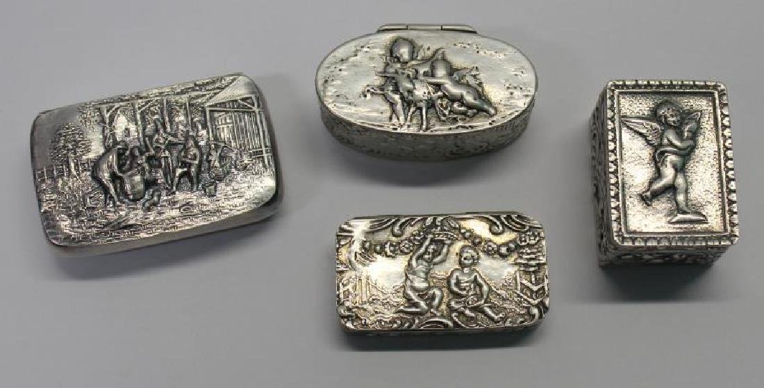 SILVER. Grouping of 27 Assorted Snuff Boxes. - 4