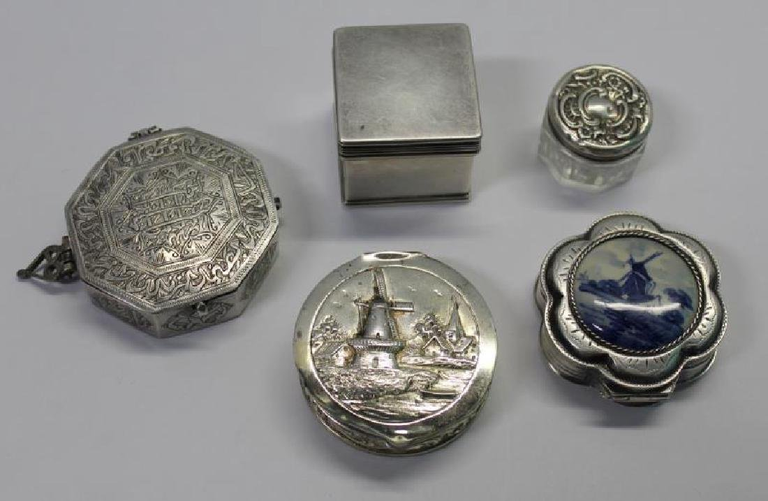 SILVER. Grouping of 27 Assorted Snuff Boxes. - 5