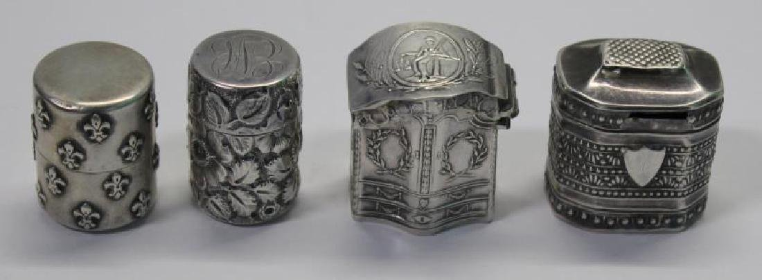 SILVER. Grouping of 27 Assorted Snuff Boxes. - 6