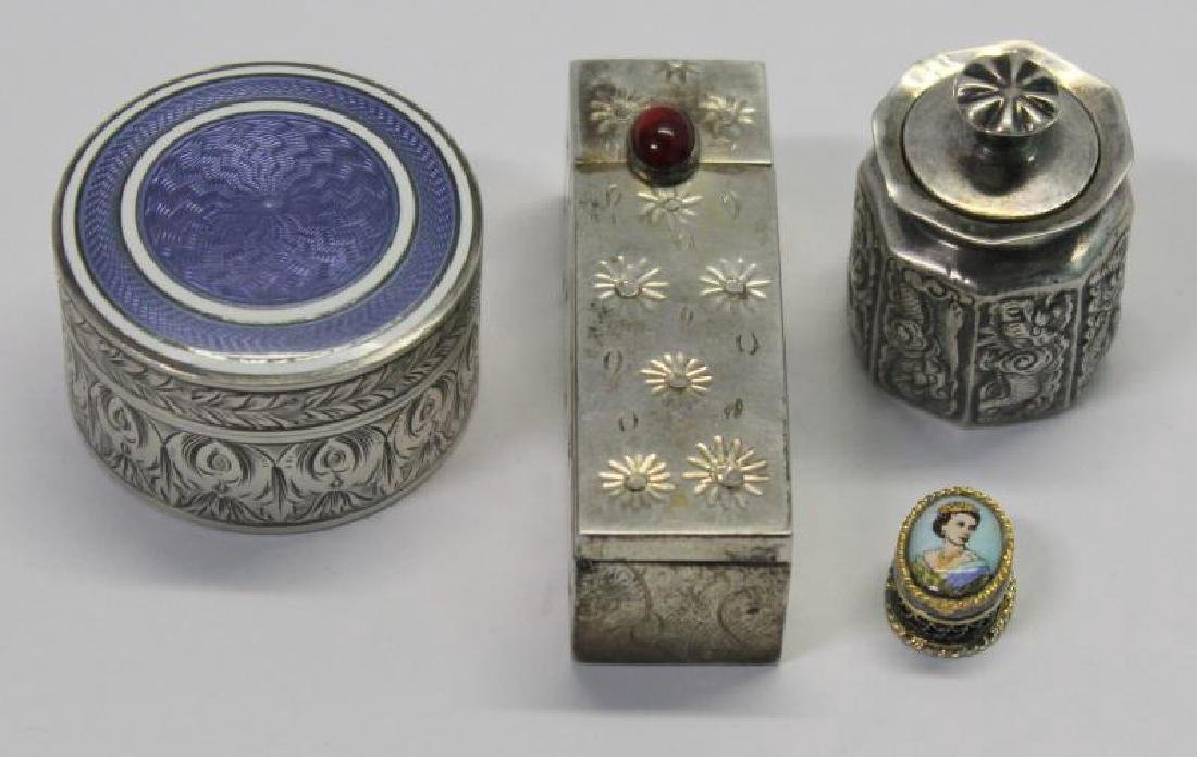 SILVER. Grouping of 27 Assorted Snuff Boxes. - 7