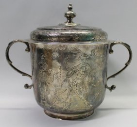 SILVER. William and Mary English Silver Caudle Cup