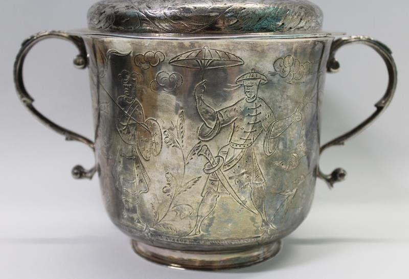 SILVER. William and Mary English Silver Caudle Cup - 2