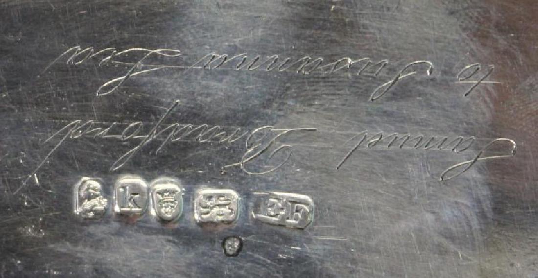 SILVER. George IV English Silver Teapot. - 6