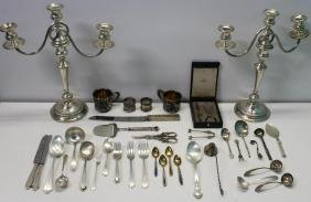 SILVER. Assorted Grouping of Hollow Ware and