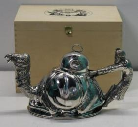 SILVER-PLATED. 20th C Mariage Freres Teapot.