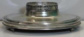 SILVER. Large German Silver Footed Center Bowl.