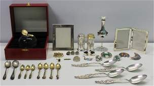 JEWELRY & SILVER. Assorted Grouping of Jewelry and