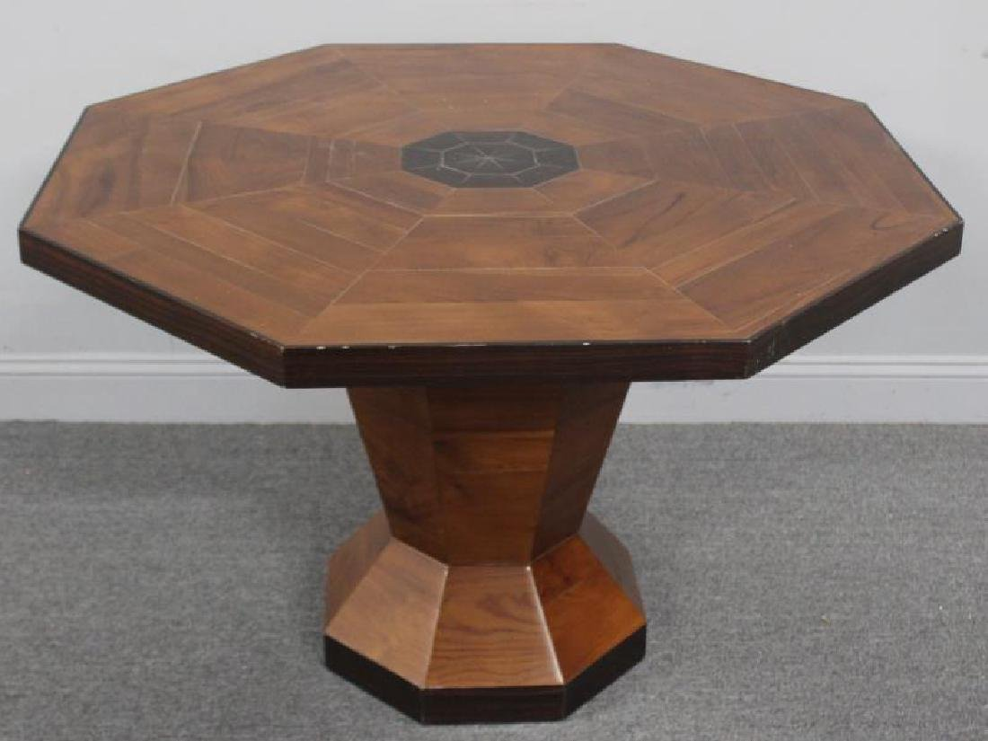 Modern Rosewood Inlaid Center Table.