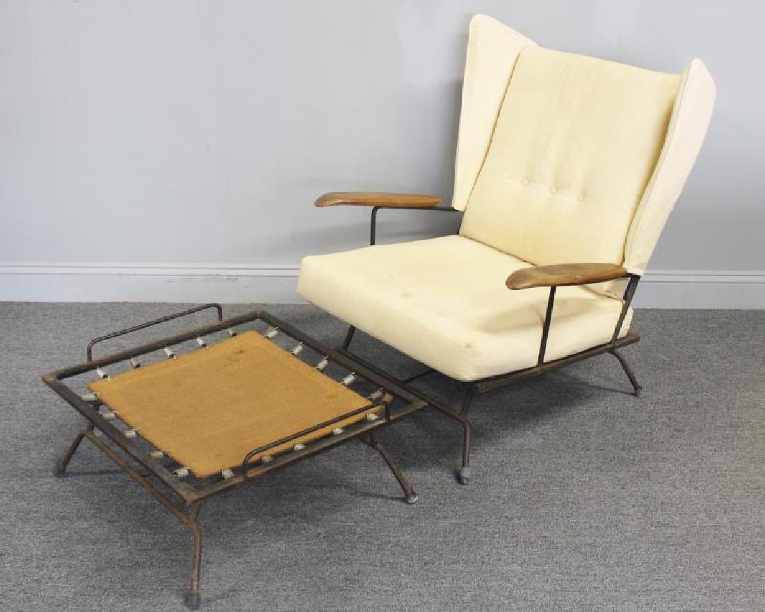 Rare Midcentury Adrian Pearsall Iron Lounge Chair.