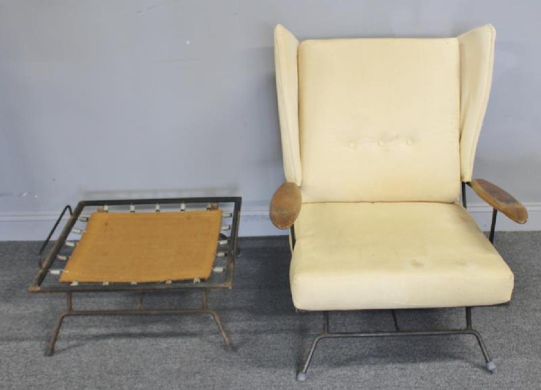 Rare Midcentury Adrian Pearsall Iron Lounge Chair. - 2