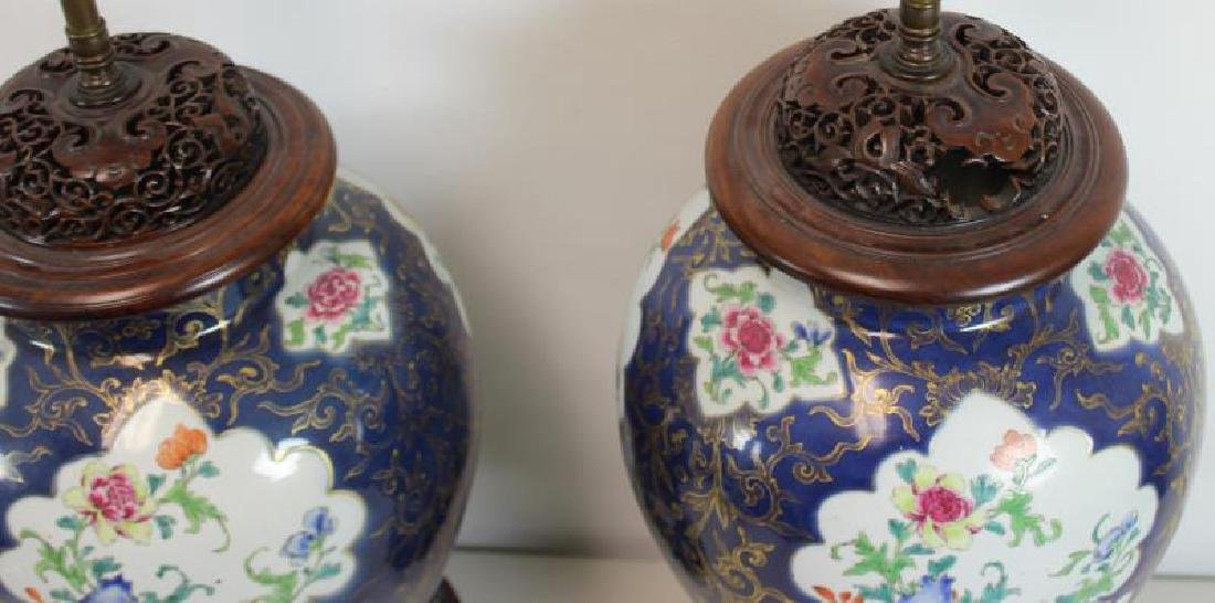 A Pair of Fine Quality Porcelain Enamel Decorated - 2
