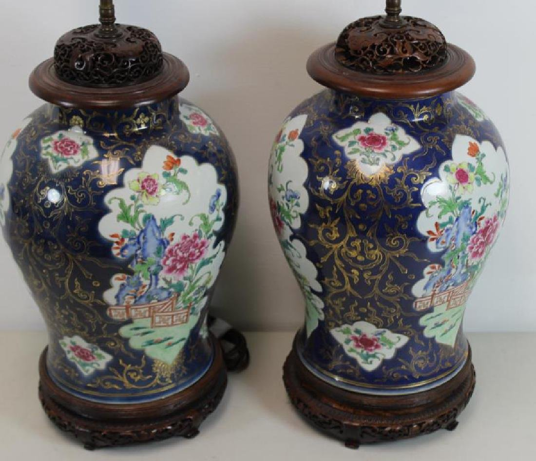 A Pair of Fine Quality Porcelain Enamel Decorated - 3