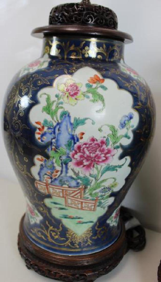 A Pair of Fine Quality Porcelain Enamel Decorated - 4