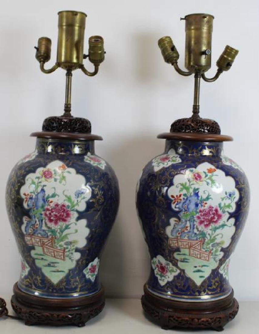 A Pair of Fine Quality Porcelain Enamel Decorated - 5