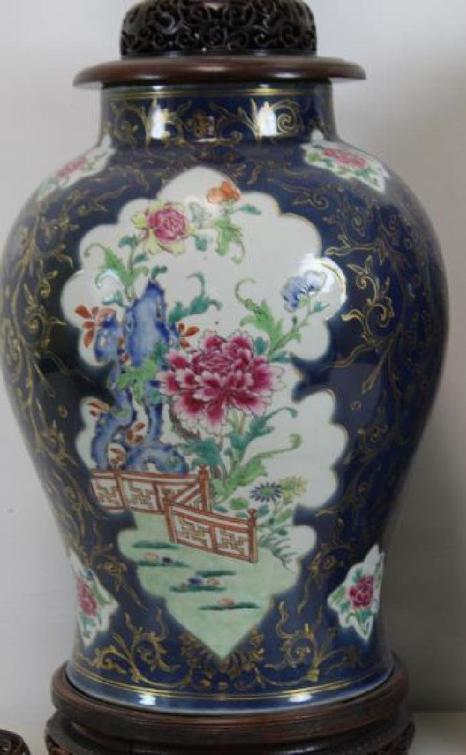A Pair of Fine Quality Porcelain Enamel Decorated - 7