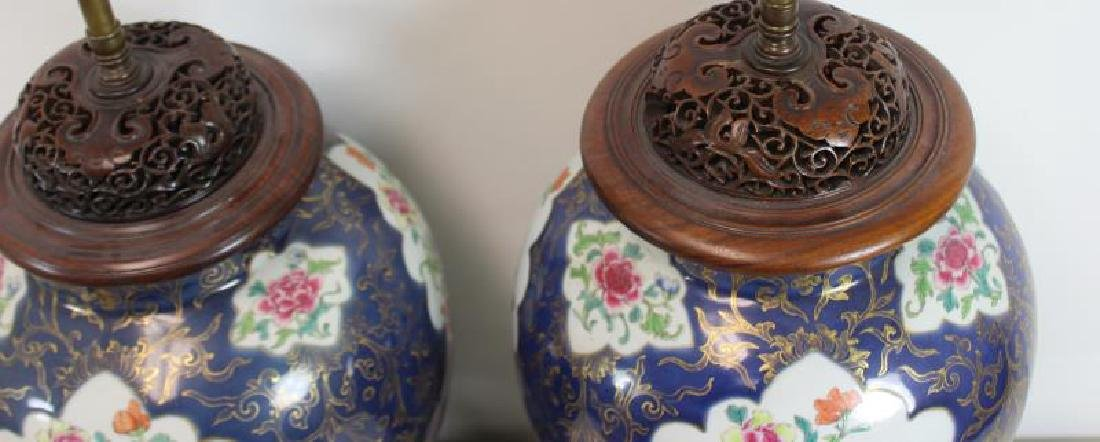 A Pair of Fine Quality Porcelain Enamel Decorated - 8