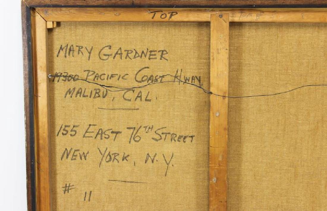 GARDNER, Mary. Oil and String on Canvas. - 6