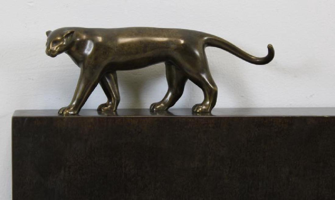 ESTEVES. Roberto.Signed Patinated Metal Sculpture. - 2