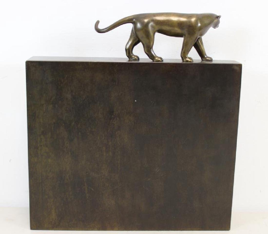 ESTEVES. Roberto.Signed Patinated Metal Sculpture. - 5