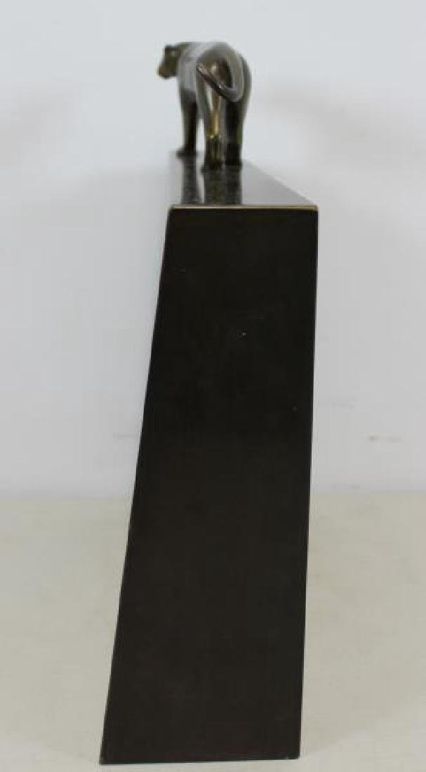 ESTEVES. Roberto.Signed Patinated Metal Sculpture. - 6