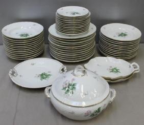 B & G Denmark Floral Decorated Porcelain Dinner