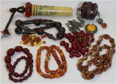 JEWELRY. Assorted Grouping of Amber Jewelry