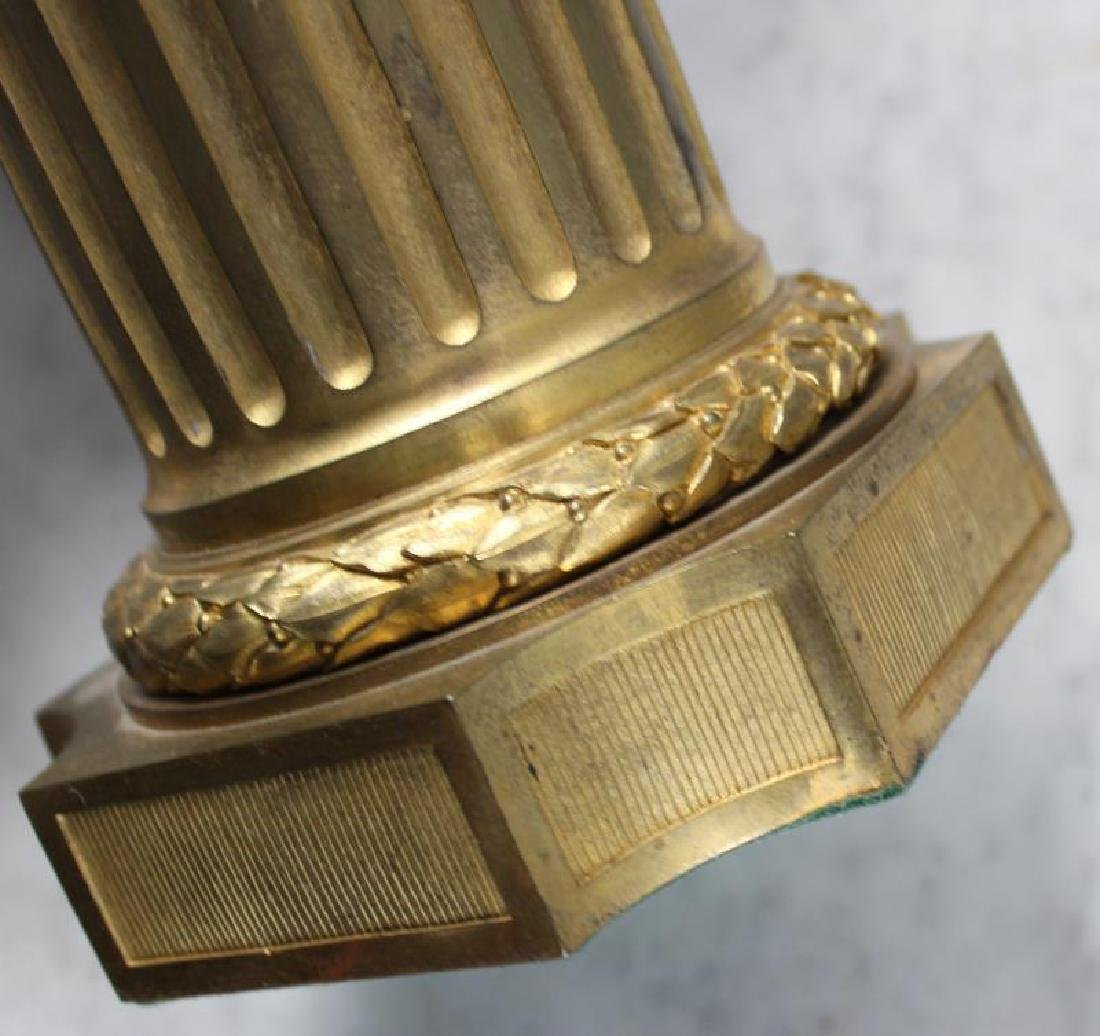 Pair Of 19 Century Dore Bronze Putti Form Candlebr - 9