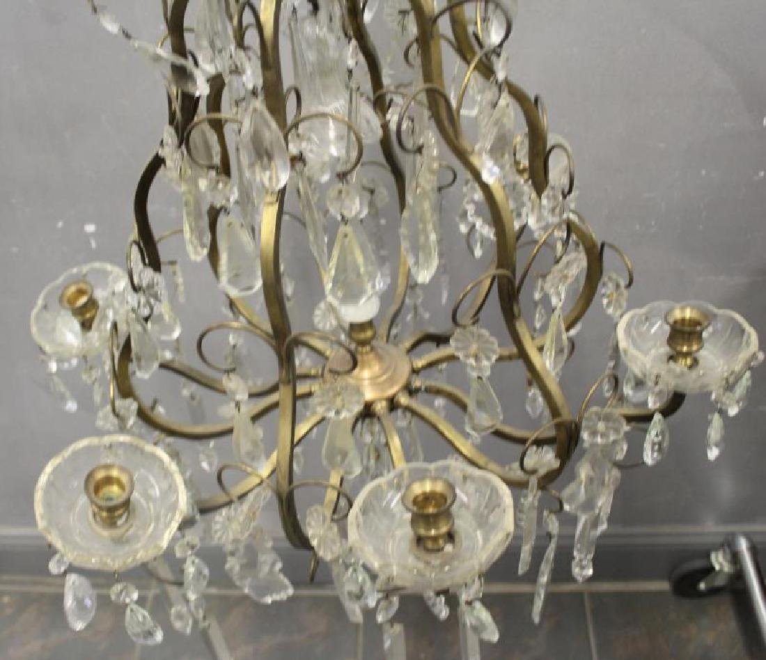 Gilt Metal Skeleton Form Chandelier . - 3