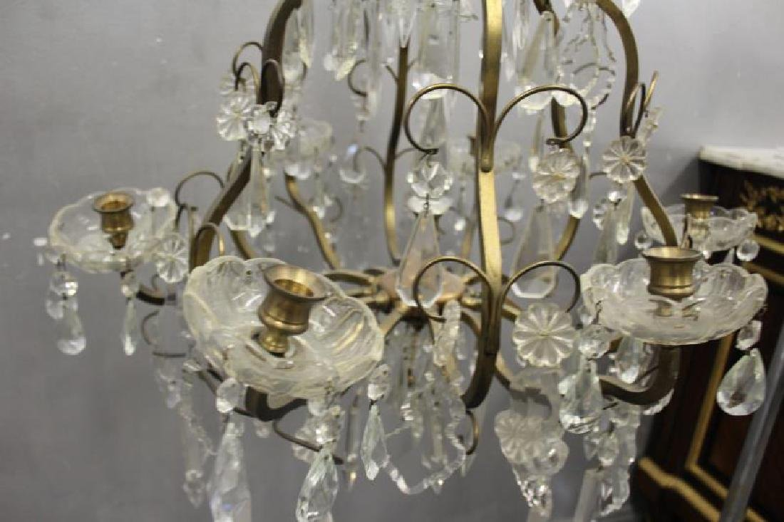 Gilt Metal Skeleton Form Chandelier . - 5