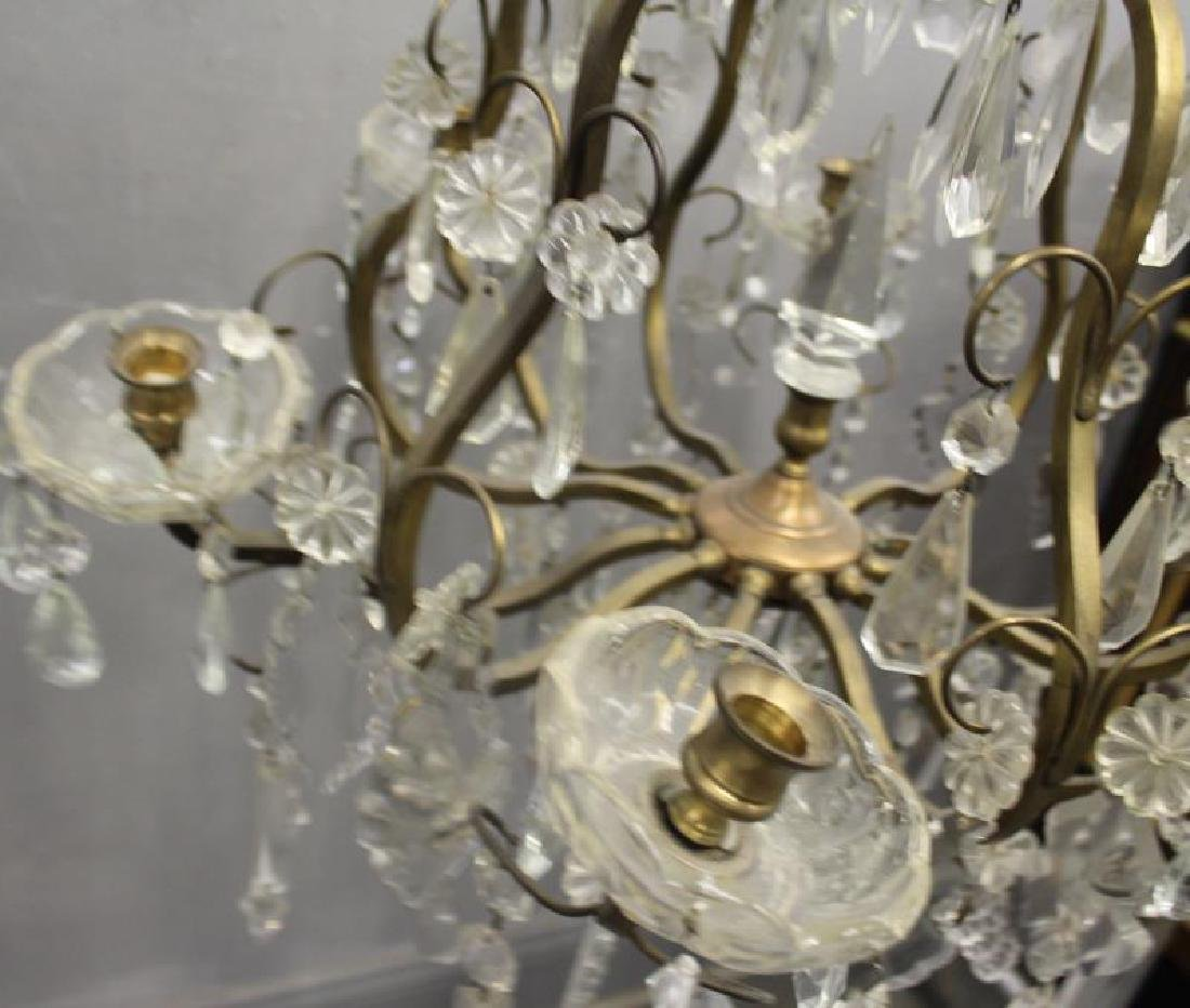 Gilt Metal Skeleton Form Chandelier . - 6