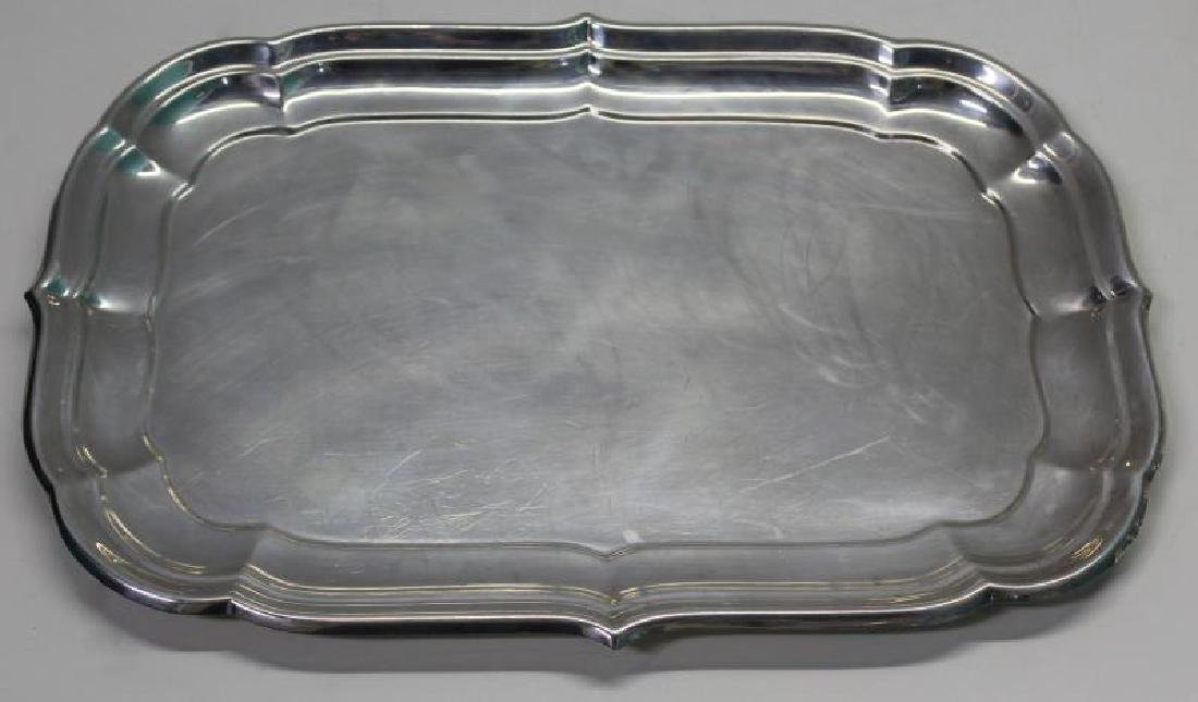 STERLING. Cartier Windsor Silver Serving Tray.