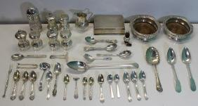 STERLING. Assorted Grouping of Sterling and Coin