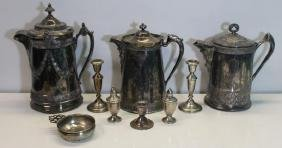 SILVER. Assorted Sterling and Silver-Plate.