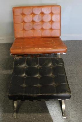 Barcelona Chair and Ottoman As / Is .
