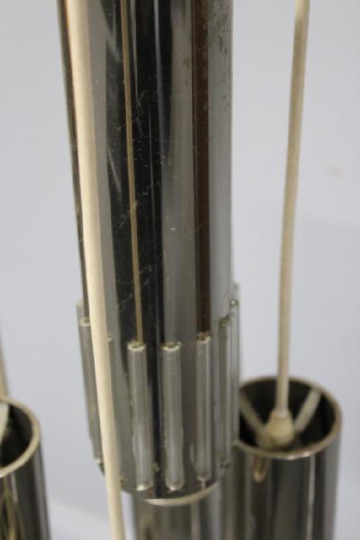 Midcentury Chrome Pendant Chandelier. - 4