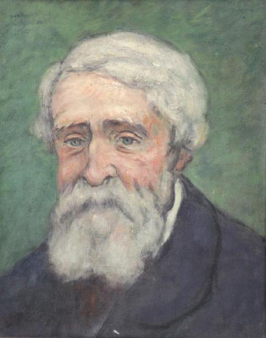 Signed 1925 Oil on Canvas Portrait of a Man.