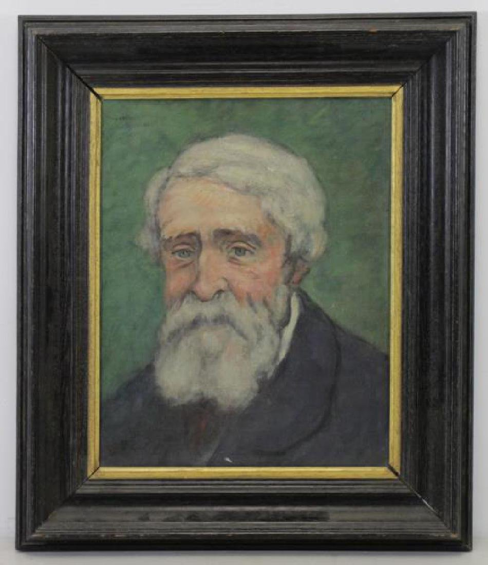 Signed 1925 Oil on Canvas Portrait of a Man. - 2