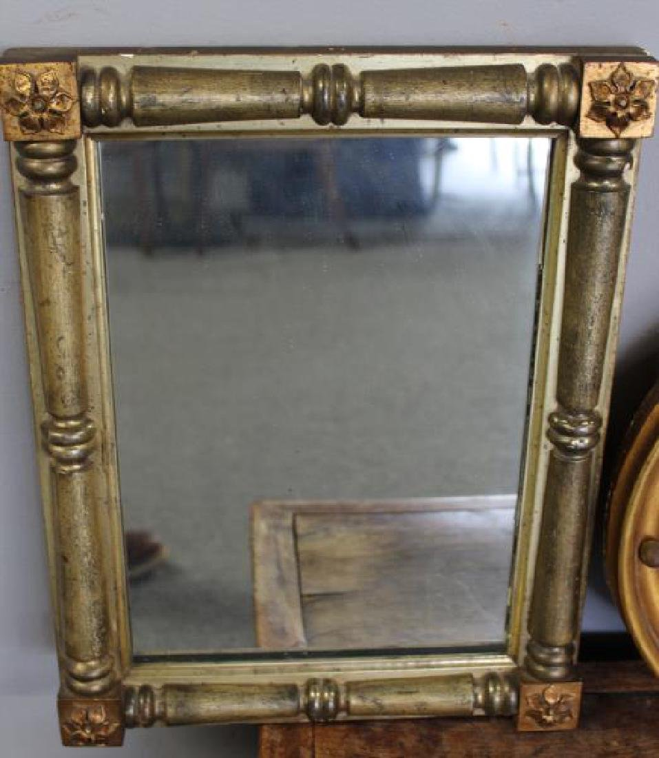 2 Antique Mirrors and an Antique Elm Box . - 2