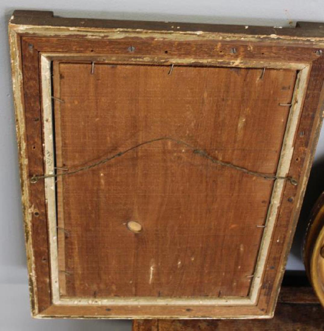 2 Antique Mirrors and an Antique Elm Box . - 3