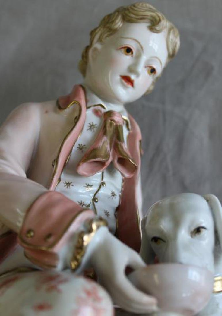 Pair of Porcelain Figures of Children with - 10