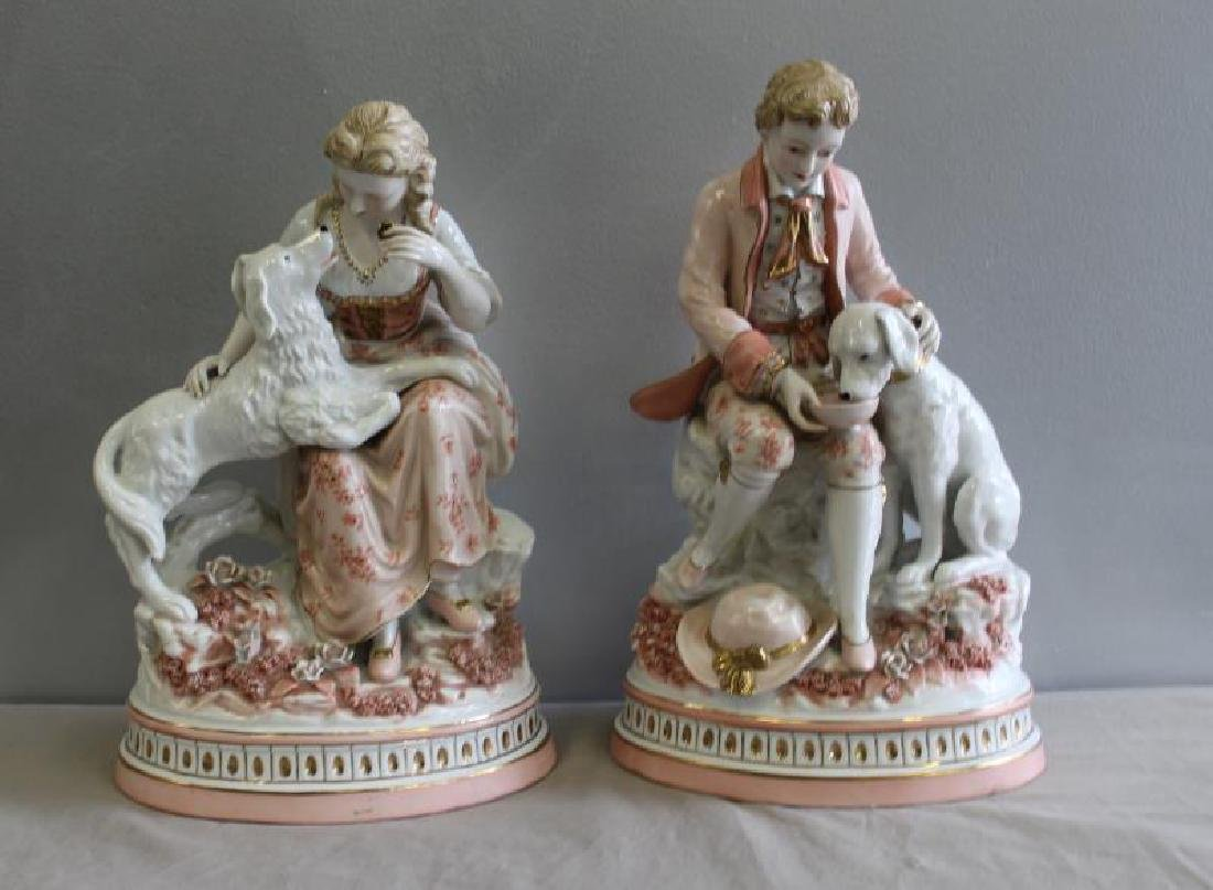 Pair of Porcelain Figures of Children with