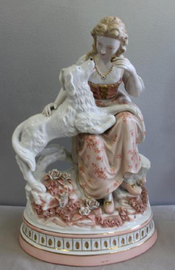 Pair of Porcelain Figures of Children with - 2