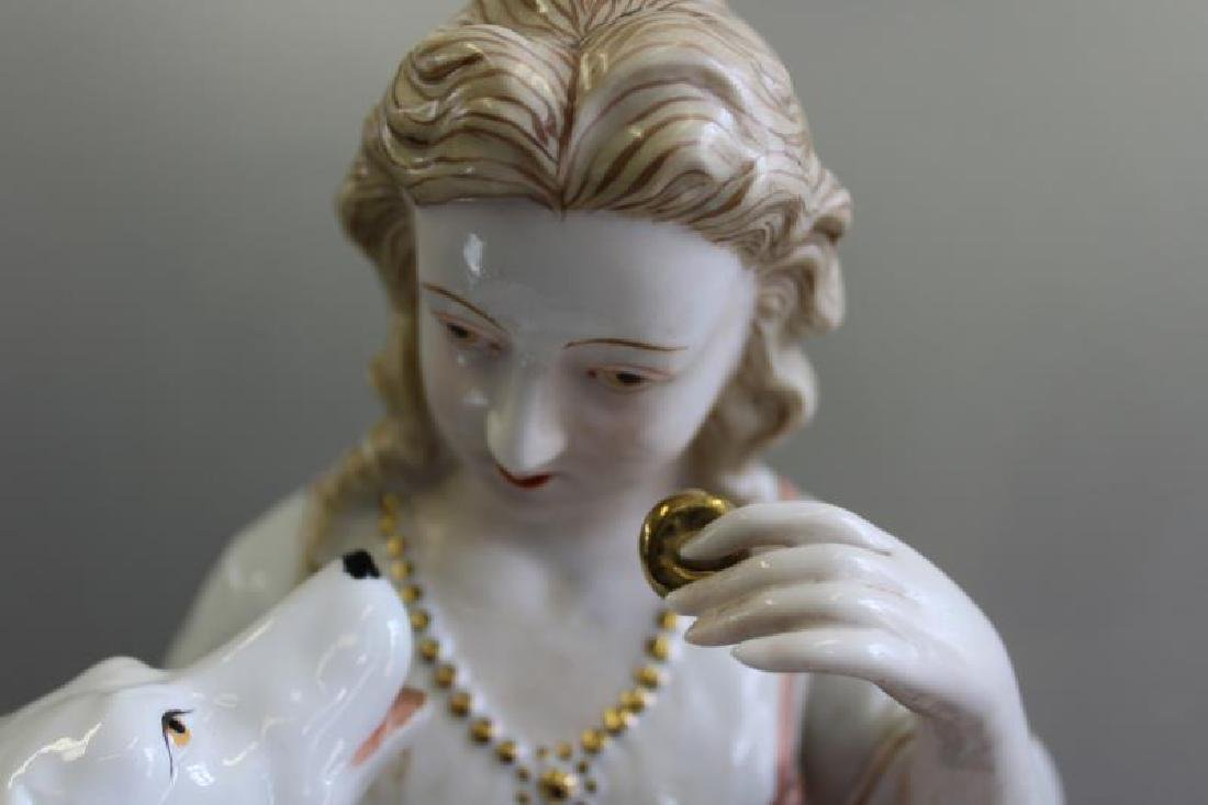 Pair of Porcelain Figures of Children with - 7